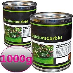 PROHEIM Karbid 1,0 kg bewährtes & ergiebiges Calciumkarbid in großen Stücken mit Langzeitwirkung Carbid mit hoher Wirkungsdauer