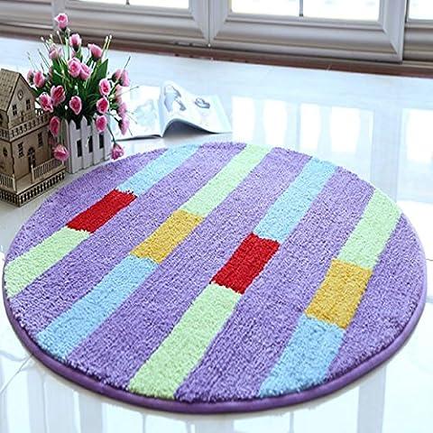 Lavabile in lavatrice circolare del calcolatore della sedia in pelle scamosciata anti - Skid tappeto del salotto camera da letto tappeto con carrello Coat spogliatoio Carpet ( dimensioni : 0.9*0.9m )