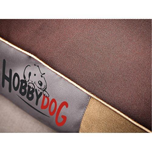 HOBBYDOG MATRATZE L MATFZB7 Hundebett Hundematratze Hundekissen Hundematte Schlafplatz (3 verschiedene Größen) (L (90 x 70 cm)) - 4