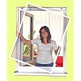 easy life greenLINE raamhor, 100 x 120 cm, in wit, vliegengaas met aluminium frame, insectenraam, zonder boren, individueel i