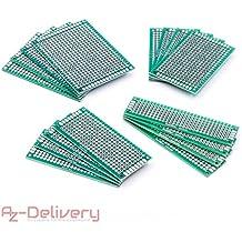AZDelivery ⭐⭐⭐⭐⭐ 16 x PCB Board Set Lochrasterplatte Lochrasterplatine Leiterplatte für Arduino