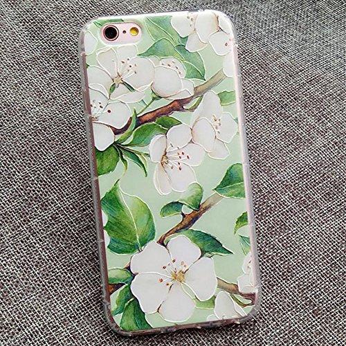 Hosaire Coque Soft TPU Silicone Ultra-thin Phone Case Housse pour iPhone 7 Créatif Motif de Peint Fleur Marguerite Étui Cover de Protection de Téléphone Case pour iPhone 7 Fleur Ewha