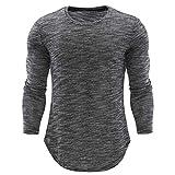 MEIbax O-Ansatz der Art und Weise persönlichkeits-Männer beiläufige dünne Lange Hülsen Hemd Langarmshirt Herren Fitness-Sweatshirts Shirt Longsleeve Slim Fit T-Shirt Sweatshirt