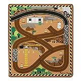 Melissa & Doug Spielteppich (100 x 90 Zentimeter) - Baustellenbetrieb mit Fahrzeugen (4 Teile)