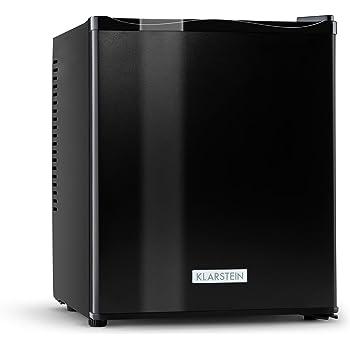 Klarstein MKS-11 • Minibar • Mini-Kühlschrank • Getränkekühlschrank • 25 Liter • geräuschloser Betrieb • 1 Regaleinschub • 2 Seitenfächer • 3-stufiger Temperaturregler • matt-schwarz