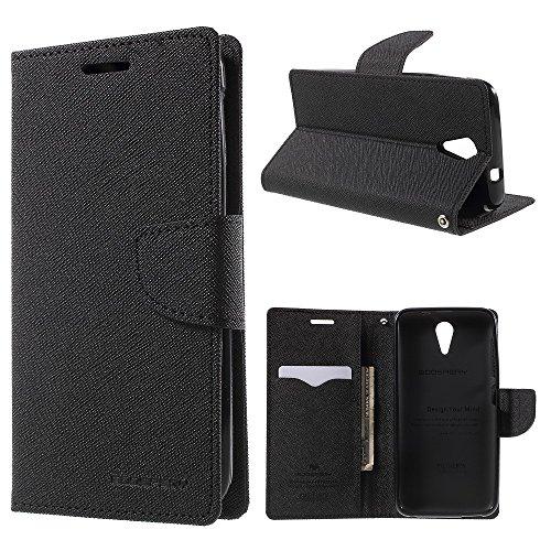 Mercury GOOSPERY Fancy Diary Wallet Leather Tasche Hüllen Schutzhülle for HTC Desire 620 Dual Sim / 620G Dual Sim with Stand - Black