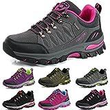 BOLOG Chaussures de Randonnée Outdoor Hommes Basses Trekking Promenades Sports Sneakers Femme Antichoc Antidérapant Chaussures,Rose Grise,EU38...