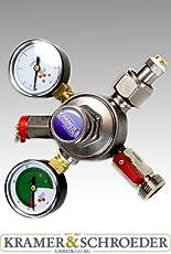 CO2 Druckminderer 1-ltg. 0-6/3 bar mit Inhaltsmanometer