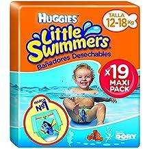 Huggies Little Swimmers - Bañadores Desechables, talla 5-6, 19 unidades