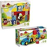 LEGO Duplo 2-teiliges Set 10615 10617 Mein erster Bauernhof + Mein erster Traktor