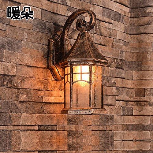 LIYAN minimalistische Wandleuchte Wandleuchte E26 /E8044Außen-Wandleuchten wasserdichte Outdoor kreative Terrasse Leuchten im Landhausstil balkon Treppe, Wandleuchten, antike Farbe ohne Lichtquelle - Antique Bronze Outdoor-wandleuchte