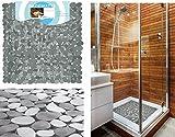 Succsale-AWD-DESIGN -Graue Duscheinlage Duschwanne Dusche Anti Rutsch Matte-Kieseloptik-Bestseller 2017