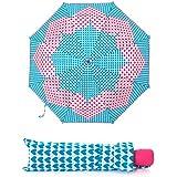Paraguas Agatha Ruiz de la Prada plegable colección Pamela, automático, antiviento, fuerte, ligero. …