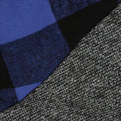 Topgrowth Felpa Donna Collo Alto Camicie a Quadri Tunica Manica Lunga Autunno Inverno Pullover Lunga Camicia Blu