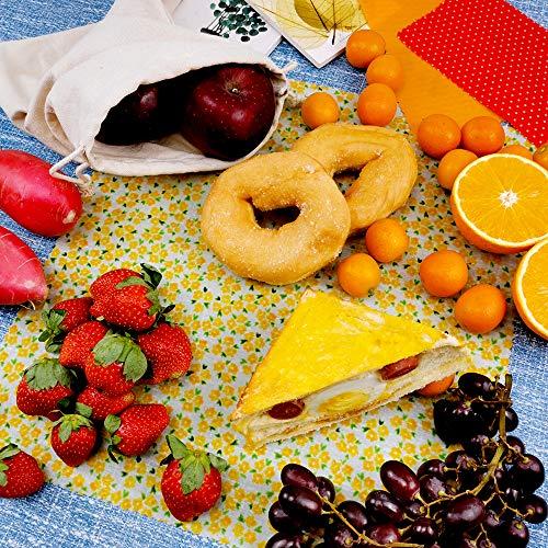 YOWAO Almacenamiento de alimentos ecol/ógico que mantiene los alimentos frescos 33x100cm Bee Pattern 100 x 33 cm Rollo de papel de cera de abeja reutilizable
