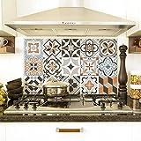 Misure: 70x50 cm - PR00030 Pannello paraschizzi Retro Piano Cottura in Plexiglass - Stampa in altissima risoluzione Resistente al Calore