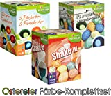 """OSTER-EIERFARBEN 3er Familienpaket, inklusive """"Shake it!"""", 5 Farben sortiert und It's magic mit Zauberstift"""