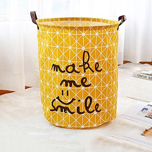 JAYLONG Großer Waschkorb 2 Pcs, Zusammenklappbare Stoff Wäsche, Faltbare Kleidertasche, Klapp Waschbär (9 Farben) Für Den Schul Schlaf Mit Zu Hause,D