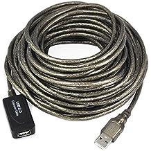 Link-e - Cable alargador USB 2.0, macho a hembra, 5o 10m de longitud, para repetidor, extensión o prolongador 10 m