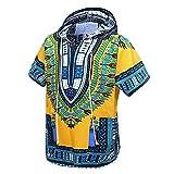 Orang Afrikanisches Dashiki Hemd Unisex Afrika Indische Traditionelle Hoodie Top Kleidung von Einheitsgröße für Alle (Yellow)