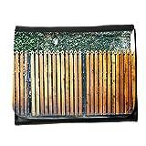 le portefeuille de grands luxe femmes avec beaucoup de compartiments // M00153717 Valla de tablones de madera de Grunge // Small Size Wallet