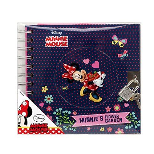 Minnie Mouse Maus Tagebuch mit Schloss Freundebuch Poesiealbum blau -