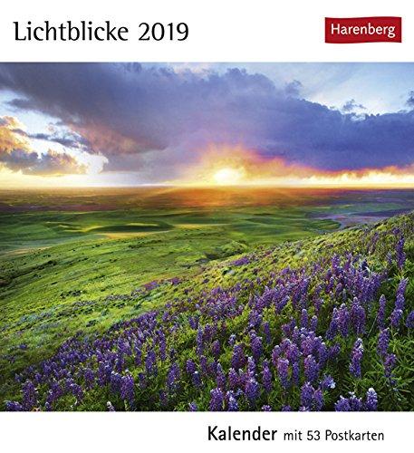 Postkartenkalender Lichtblicke - Kalender 2019 - Harenberg-Verlag - mit 53 heraustrennbaren Postkarten - 16 cm x 17,5 cm