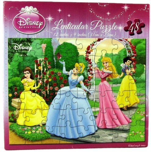 Disney Princess Lenticular Puzzle - Disney Princess Lenticular Puzzle 48 Piece