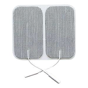 20 Stück selbstklebende Elektroden von der Marke ZEN-QI, 50×90 mm. Wiederverwendbar. Für TENS TIMS EMS Reizstrom-Geräte mit 2 mm-Stecker-Anschluss.
