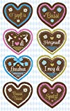 AVERY Zweckform 55142 Deko Sticker (Lebkuchenherz) 8 Aufkleber