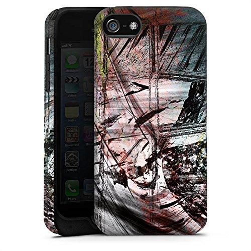 Apple iPhone X Silikon Hülle Case Schutzhülle Grunge Abstrakt Graffiti Tough Case matt