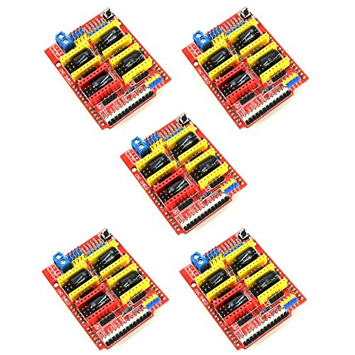 Optimus Electric 5pcs CNC Shield Board for Arduino A4988 Microstepping  Motor Driver Sockets with Under-voltage Over-current Over-temperature