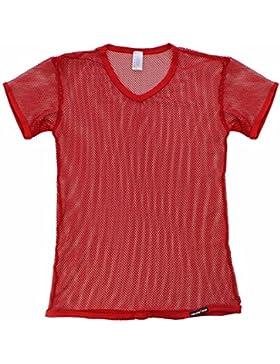 iiniim Atractivo Hombre Chaleco Camiseta de Manga Corta Camiseta Transparente Chaleco Camisa de Malla para Los...