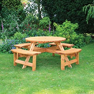 Anchor Fast Somerset 8 Seater Round Picnic Bench - !!! SALE !!!