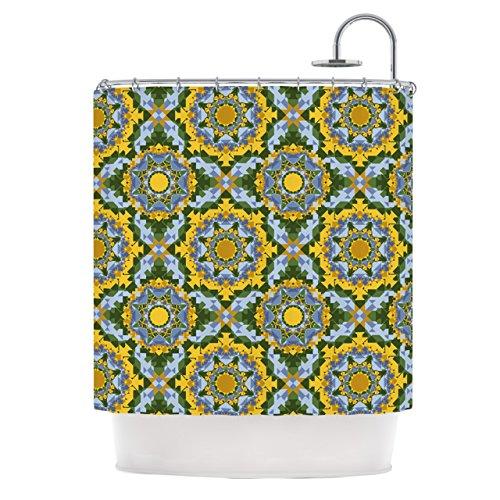 Kess eigene Anneline Sophia Aztec Boho Gelb Blau Vorhang für die Dusche, 69von 178cm