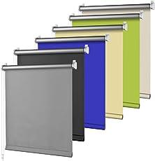 S SIENOC Thermorollo Klemmfix Rollo Verdunkelungsrollo Silberbeschichtung lichtundurchlässig Sichtschutz für Fenster & Türen