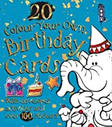 Colour Your Own Birthday Cards (with envelopes)