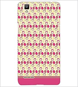 PrintDhaba Pattern D-1615 Back Case Cover for OPPO F1 (Multi-Coloured)