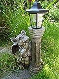 Udo Schmidt Lanterne solaire de jardin avec statue en forme de petit dragon