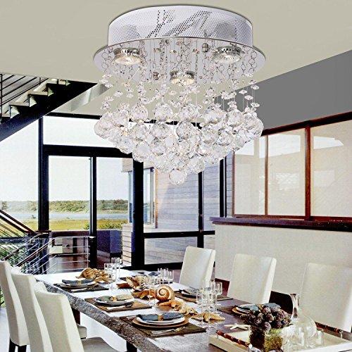 moderno lampadario di cristallo filo appeso semplice ed elegante tre