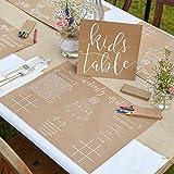 Ginger Ray Rustic Country Kit coloriage et sets de table Activité pour enfants durant mariage - Lot de 8...
