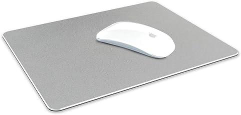 Tizum Aluminium Mousepad - Anti-Skid Intensive Gaming Mouse Pad for MacBook, Laptop & Desktop (L) - Silver