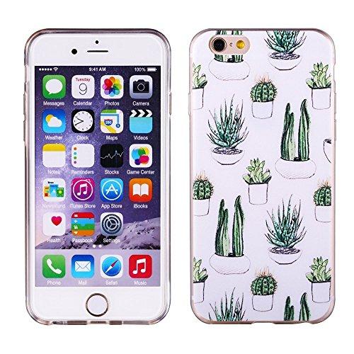 Aprtwin Étui Transparent en TPU Silicone pour Apple iPhone 6 / 6S en Transparent Fleur de Prunier Design[Style 01] ?5