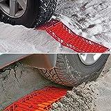 WawaAuto Tappetini auto trazione –emergenza pneumatico ruota grip Track Rescue Board, ideale per neve, ghiaccio, fango e sabbia, adatto per la maggior parte dei pneumatici Dimensioni, 2 pacchi