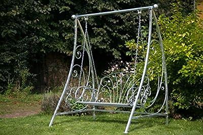 KUHEIGA Hollywoodschaukel aus Metall Verzinkt Schaukelbank Schaukel Gartenbank Eisen von kuheiga auf Gartenmöbel von Du und Dein Garten