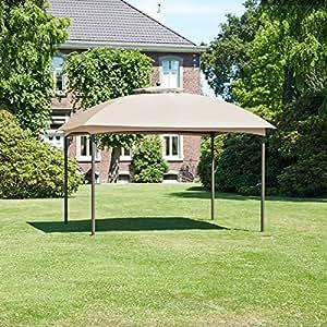 greemotion pavillon lincoln gartenpavillon 3x3 m partyzelt festzelt braun gartenzelt mit. Black Bedroom Furniture Sets. Home Design Ideas