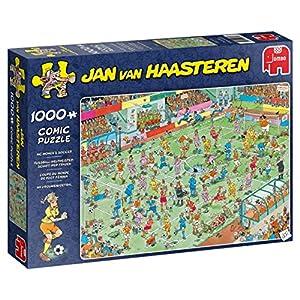 Jan Van Haasteren Womens Soccer 1000 pcs Puzzle - Rompecabezas (Puzzle Rompecabezas, Comics, Niños y Adultos, Niño/niña, 12 año(s), Interior)