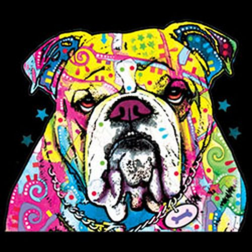 Langarm T-Shirt für Männer Langarmshirt Herren The Bulldog cooles Hunde Motiv Dog Hunde Hund langes T-Shirt Schwarz