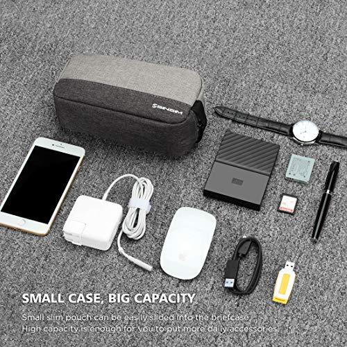 SINSIM Elektronische Accessories Carrying Tasche Case für Ladegerät USB Kabel SD Speicherkarten Kopfhörer Flash Hard Drive Wireless Mouse Power Bank und More, Grau - 5