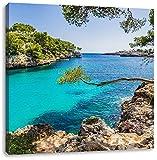 Idyllische Ansicht des Mittelmeers am Mallorca Bay Cove,